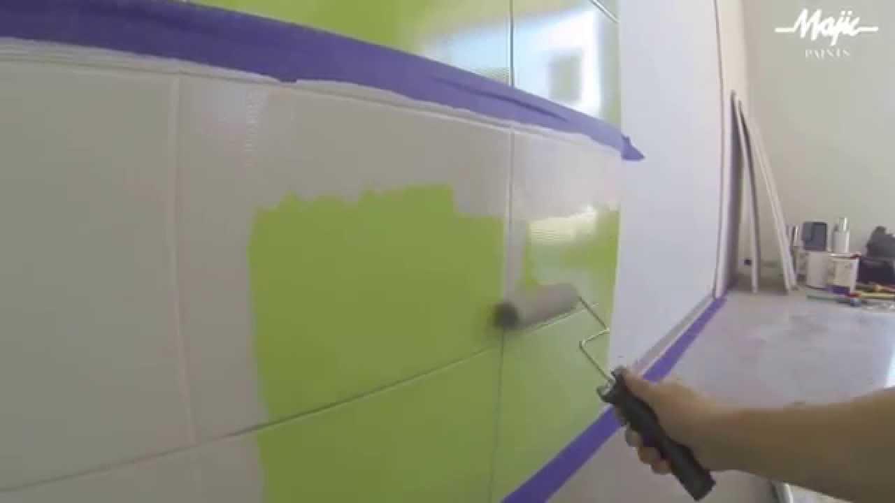 Malowanie Glazury Kafelków Płytek Majic Paints