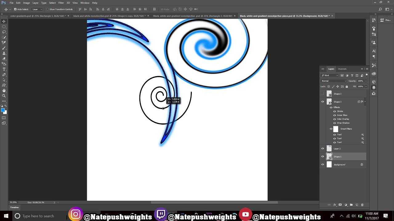 How To Make A Twirl or Swirl Design in Adobe Photoshop CC