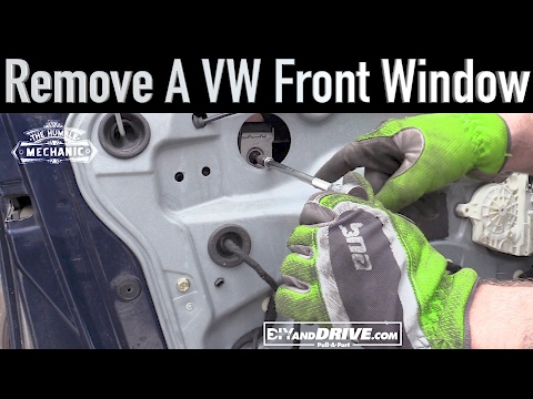 How To Remove a VW Window Glass ~ Salvage Yard Tips