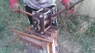 видео ТРУБОГИБ самодельный ручной для профильной трубы ( tube bender )