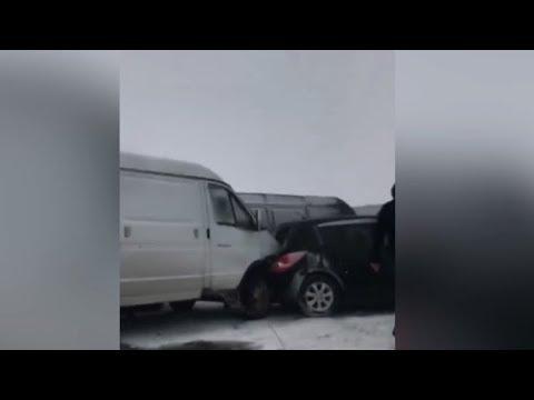 Массовая авария в Армении: столкнулись 30 машин