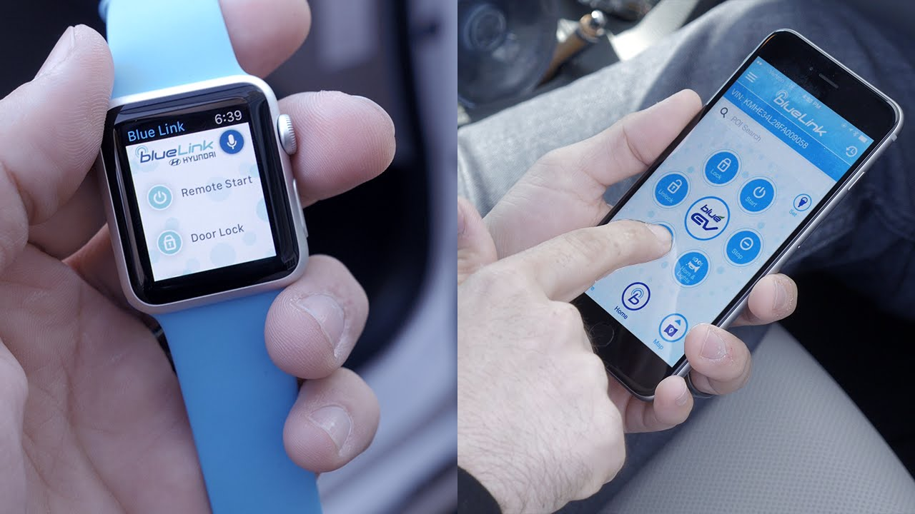 53a819cc5 Start your car with Apple Watch or Android Wear ! (Hyundai BlueLink) -  YouTube