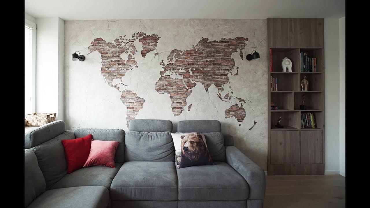 Szybkie Metamorfozy odc. 183 Living-room, cegła i mapa - aranżacje wnętrz i metamorfozy wnętrz