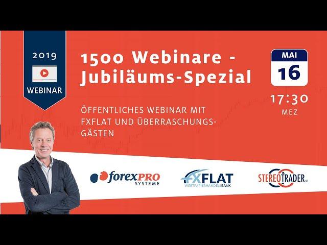 16.05.2019 - Zum 1.500sten mal Live-Handel mit Thorsten Helbig & Überraschungsgästen