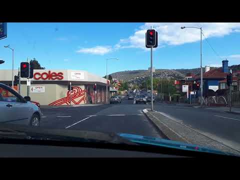 A drive through Hobart, Australia. The round about way. Part2