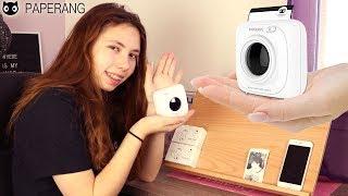 La folie de la photo nous prend ! On imprime instantanément avec PAPERANG !!! Polaroid monochrome