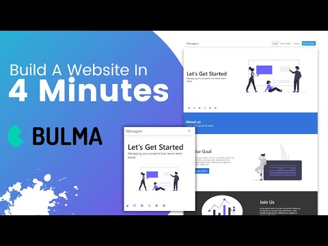 Build A Responsive Website In 4 Minutes With Bulma CSS