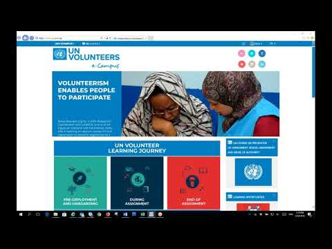 Online learning series  2018: UNV learning offer for UN Volunteers