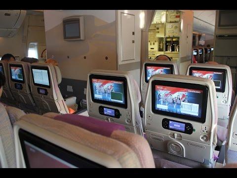 Emirates Airlines inside Boeing 777-300 ( Hanoi - Dubai) - boarding / Podróż na pokładzie Emirates