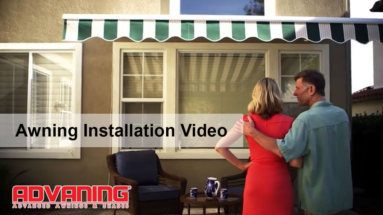 Advaning Awning How To Install A Retractable Awning Youtube