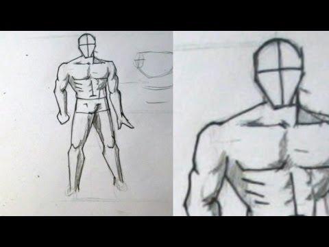 видео: Как нарисовать мужское тело