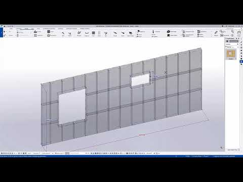 Panelizer: New Tool for Panelizing Insulation in a Wall - Tekla Structures 2021