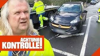 Parken auf Sperrfläche: Abschleppdienst Dentz on Tour! | Achtung Kontrolle | Kabel Eins