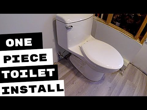 AMERICAN STANDARD ONE PIECE TOILET INSTALLATION