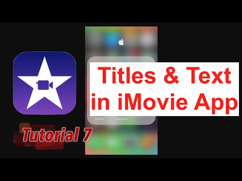 How to make a video with words on imovie for youtube