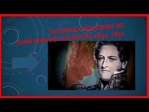 SEGUNDO GOBIERNO DE JUAN MANUEL DE ROSAS - RESUMEN