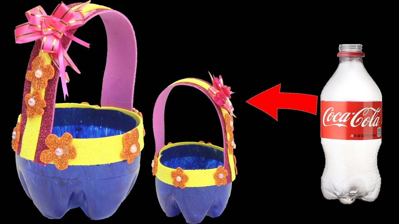 How To Make Plastic Bottle Foam Basket Craft Ideas Simple Diy