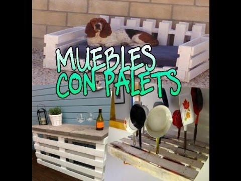 Reciclaje ideas de muebles usando palets youtube for Muebles de paletas recicladas
