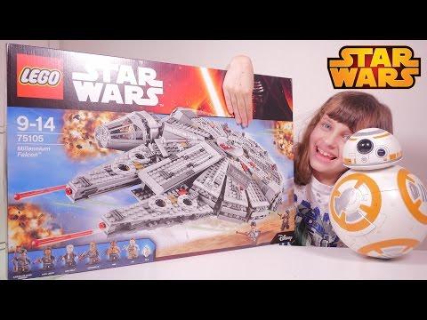 lego star wars falcon millenium set 75105 studio bubble tea unboxing millennium falcon. Black Bedroom Furniture Sets. Home Design Ideas