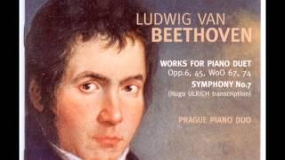 Ludwig van Beethoven: Symphony N°7 op.72, 3.Scherzo.Presto, four hands piano arr. H.Ulrich