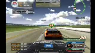 NASCAR 2005: Chase For The Cup (PS2) Gameplay: 94 Laps At Talladega