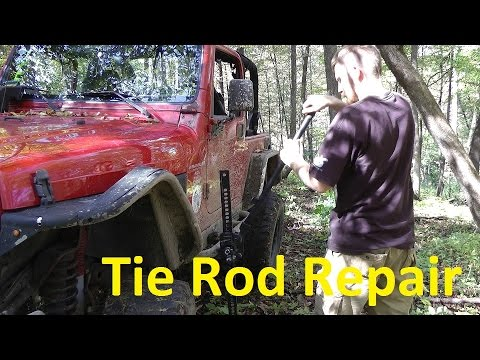 BROKEN Jeep Wrangler Tie rod – Trail Repair