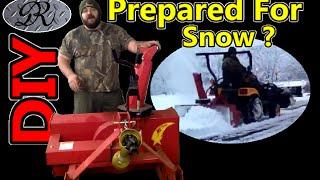 ★☃★ DIY Diesel 4x4 Tractor Powering Huge Snow Thrower / Blower. Snow vs Desiel Power,  Yanmar Wins