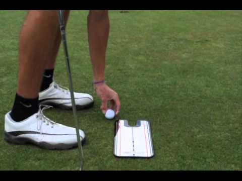 Putting Lesson using the eyeline mirror to stabilize movement – Grexa Golf