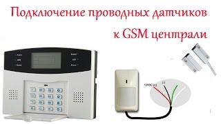 видео датчики gsm сигнализации