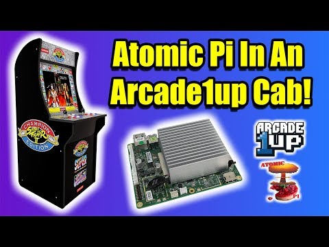 Atomic Pi In An Arcade1Up Cabinet - Linux + RetroPie X86