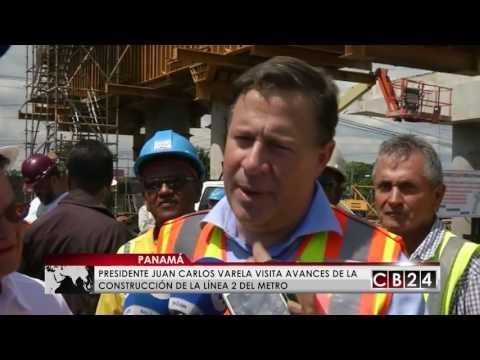 Presidente inspecciona avances de la Línea 2 del Metro de Panamá