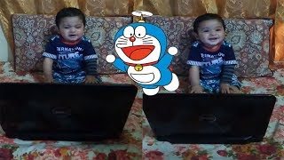 Ahmed Watching Doraemon cartoon| Cute Smiling 2019