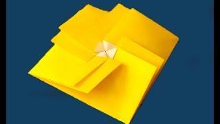 Simple square gift envelope. Origami tato. Подарочный конверт. Оригами