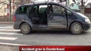 Accident grav la Dumbrăveni