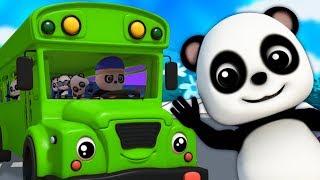 Les roues sur le bus | chansons pour enfants | comptines | autobus chanson | Wheels On The Bus