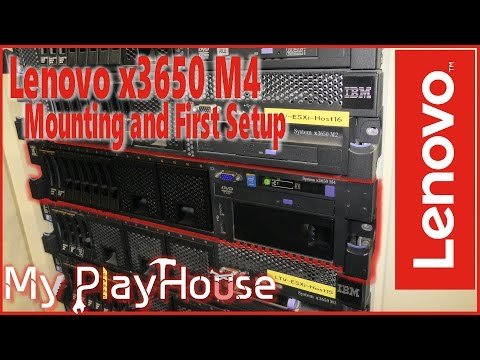 Lenovo x3650 M4 Rack Mounting and IMM Reset & Access - 460