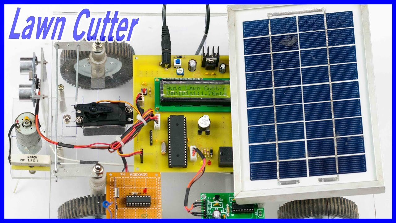 How to make a Automatic Solar Lawn Cutter - YouTube