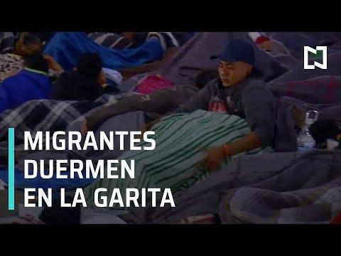 Caravana Migrante de Honduras duerme en Garita El Chaparral - En Punto con Denise Maerker