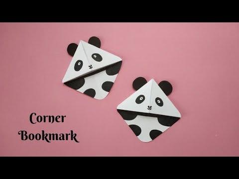 DIY Corner Bookmark using A4 Sheet | Panda Bookmark | Paper Crafting