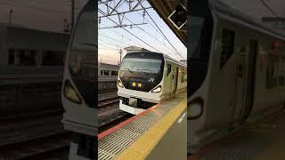 E257系快速成田山初詣青梅号青梅行き発車シーン!