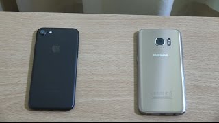 Apple iPhone 7 vs Samsung Galaxy S7 - Speed Test!