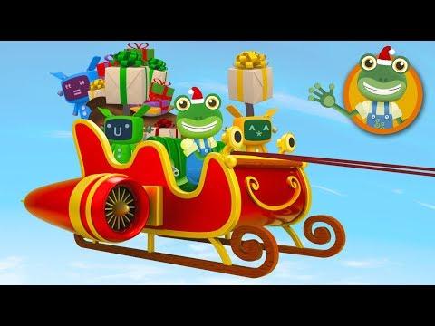 Santa's Sleigh Visits Gecko's Garage | Christmas Video For Kids