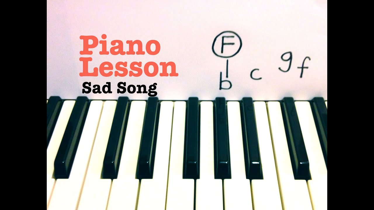 we the kings sad song piano letter notes
