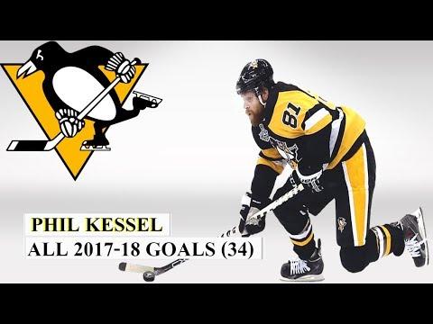 Phil Kessel (#81) All 34 Goals of the 2017-18 NHL Season