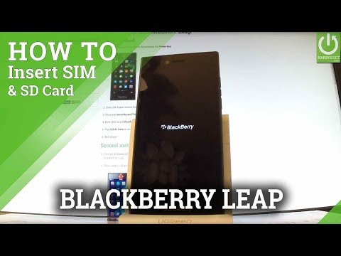 BLACKBERRY Leap Insert SIM and SD Card - Set Up SIM & SD
