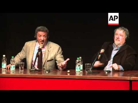 Sylvester Stallone talks life lessons at Rome Film Festival press conference