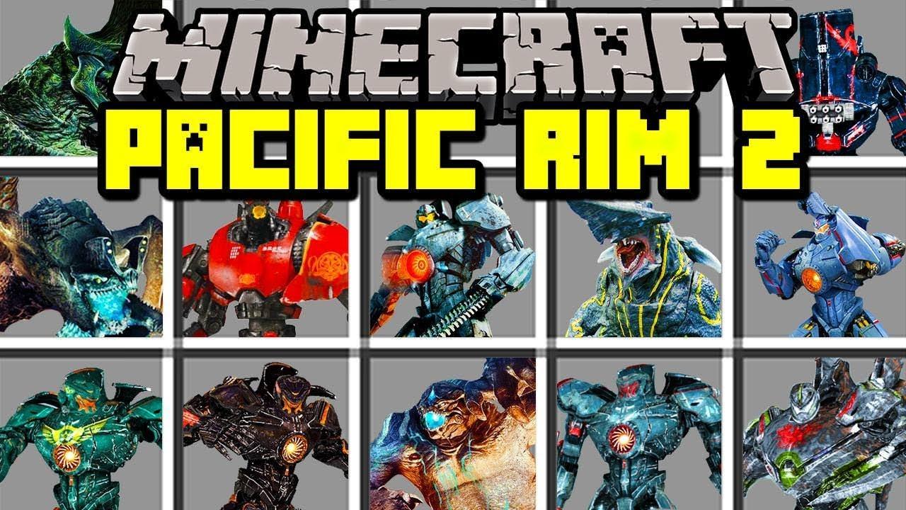 Minecraft PACIFIC RIM 2 MOD!