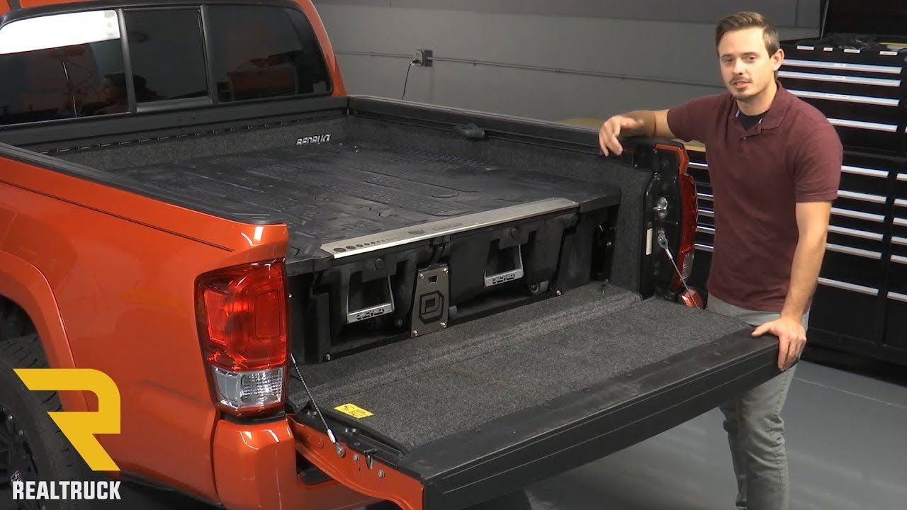 Decked Truck Bed Storage >> How to Install DECKED Truck Bed Storage System on a 2016 Toyota Tacoma - YouTube