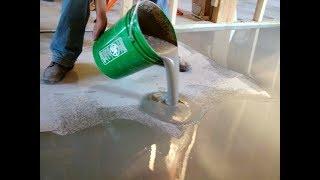 видео Как выровнять бетонный пол своими руками: пошаговая инструкция