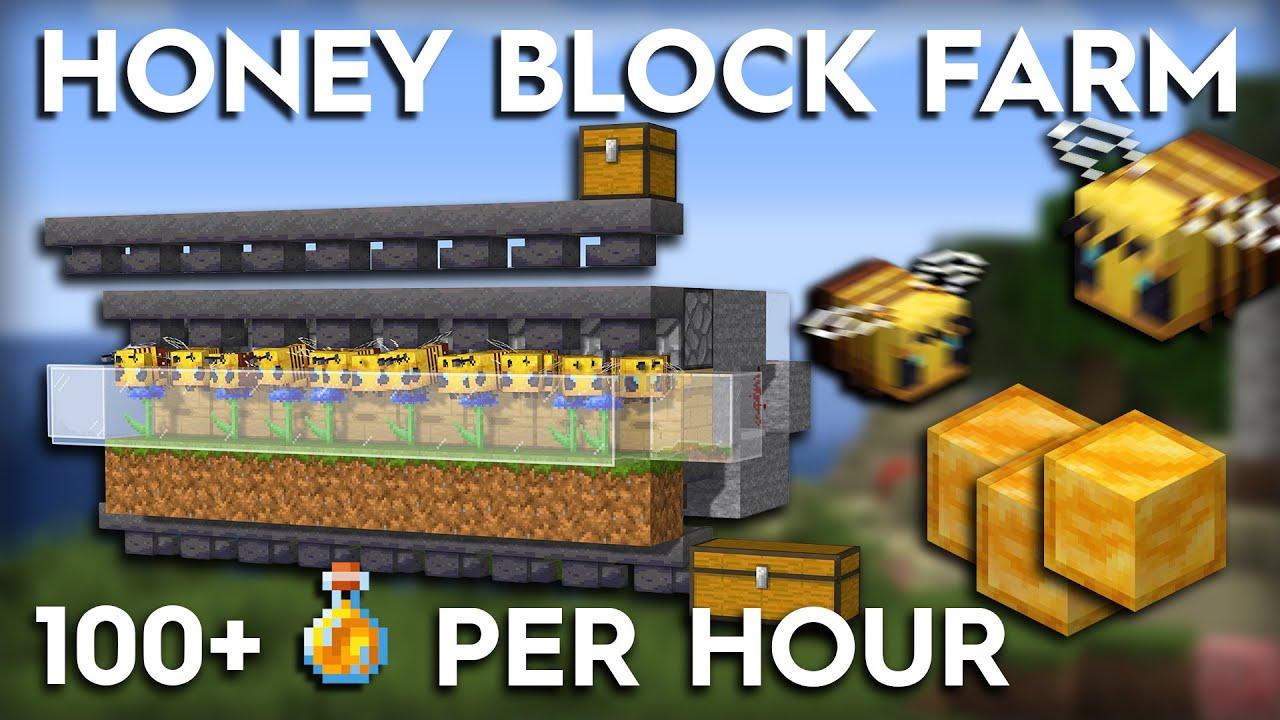 Minecraft Honey Farm Tutorial Fully Automatic 1 15 1 16 Youtube